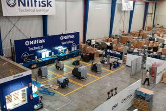 Nuevo taller de NILFISK para el reacondicionamiento y reparación de maquinaria.