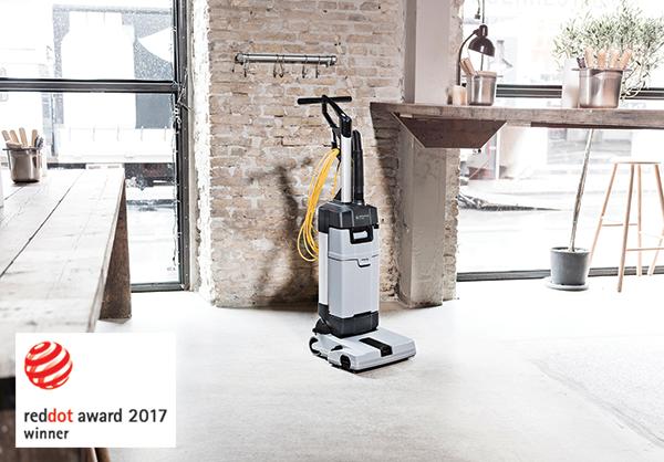 Nilfisk ha sido  reconocido internacionalmente con el sello de calidad Red Dot por conseguir un diseño de producto excepcional